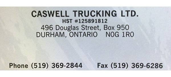 Caswell Trucking Ltd.