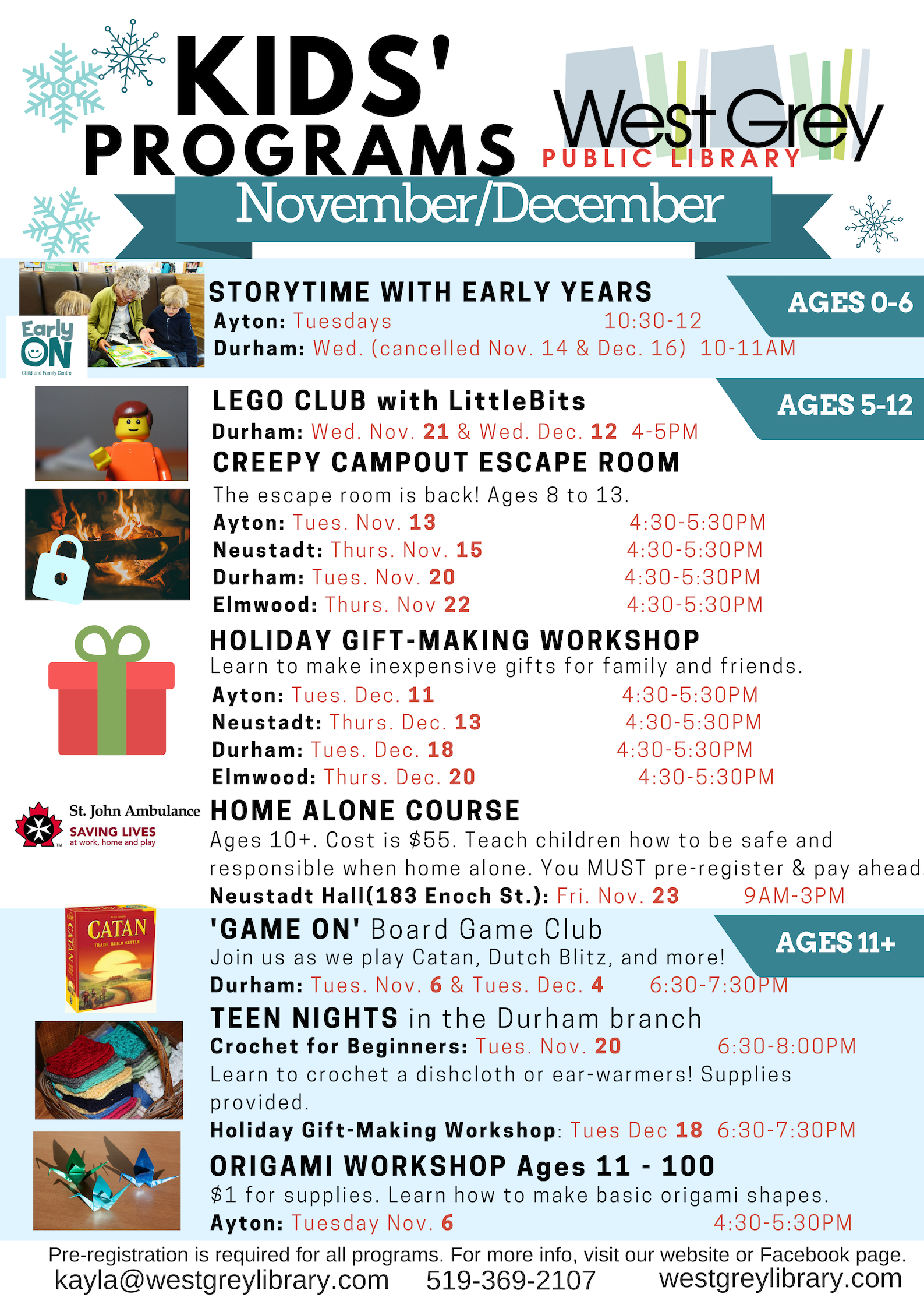 West Grey Library Children's Branch Programs