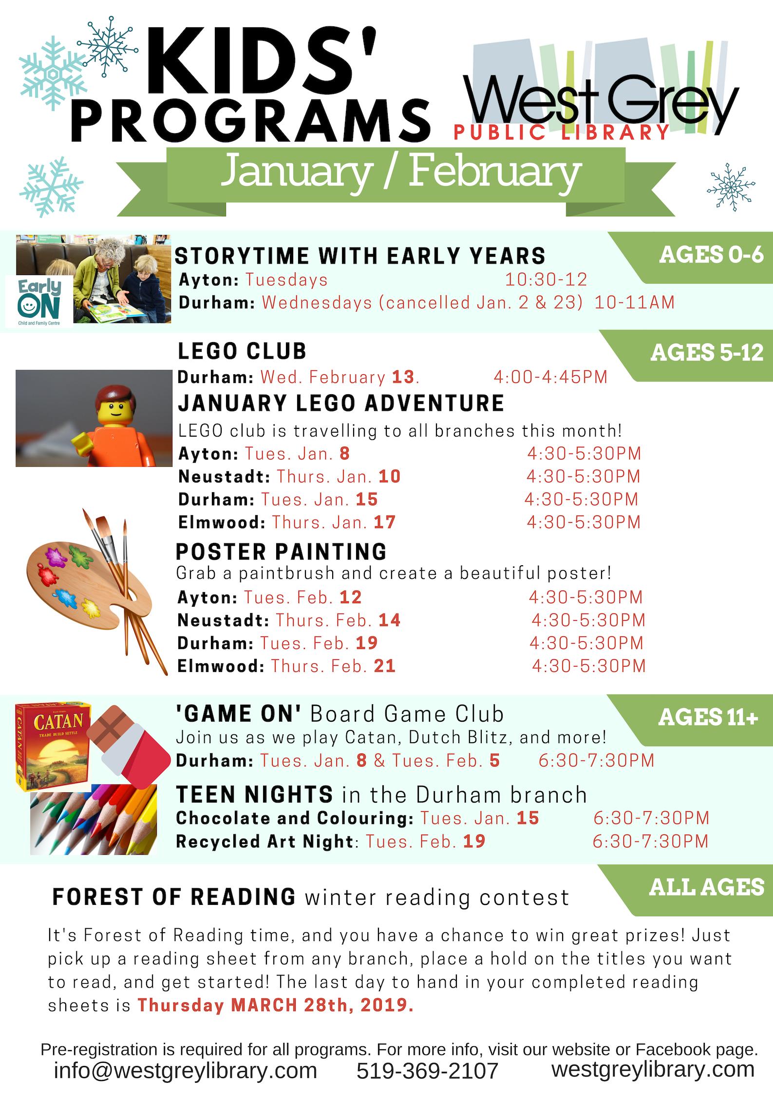 West Grey Library Children's Programs